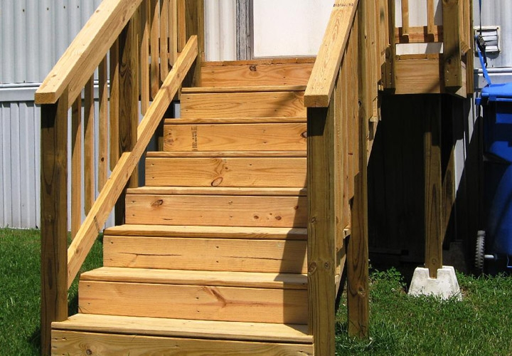 Exterior Stairs For Mobile Homes Mobile Homes Ideas | Pre Built Wooden Steps | Oak | Exterior | Pre Built | Box | Prefabricated
