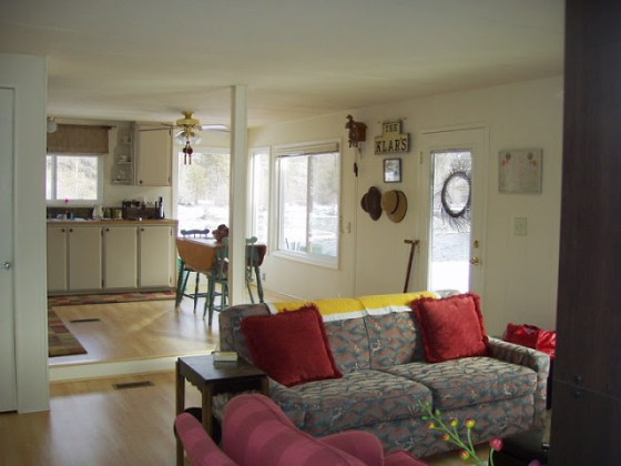 The Best Mobile Home Remodel EVER  mobile home living room after remodel