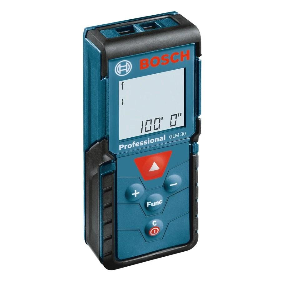 Shop Bosch 100 Ft Metric And Sae Laser Distance Measurer