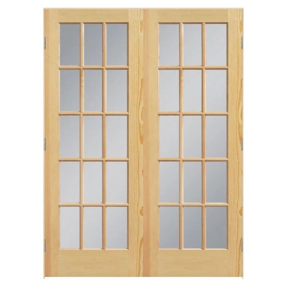 Masonite Clear Glass Pine Interior Door Common 60 In X
