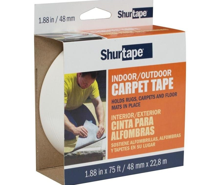 Shurtape 1 88 In X 75 Ft White Double Sided Seam Tape In The   Carpet For Stairs Lowes   Hard Wearing   Traditional   Dean Wrap Around Treads   Pattern   Textured