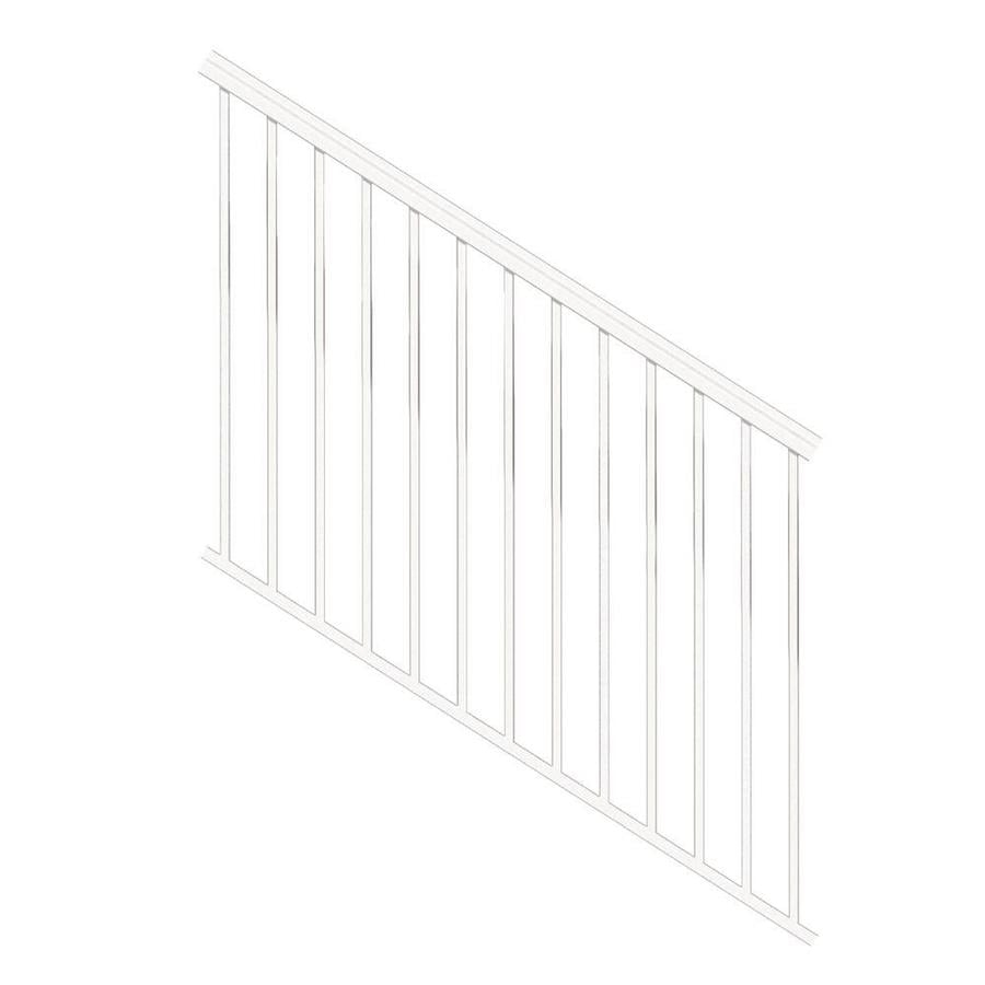 Freedom Versarail Stair White Aluminum Deck Stair Rail Kit With | Aluminum Railings For Steps | Porch | Wood Wall Mounted Stair | Solid Wood | Custom Treated | Modern
