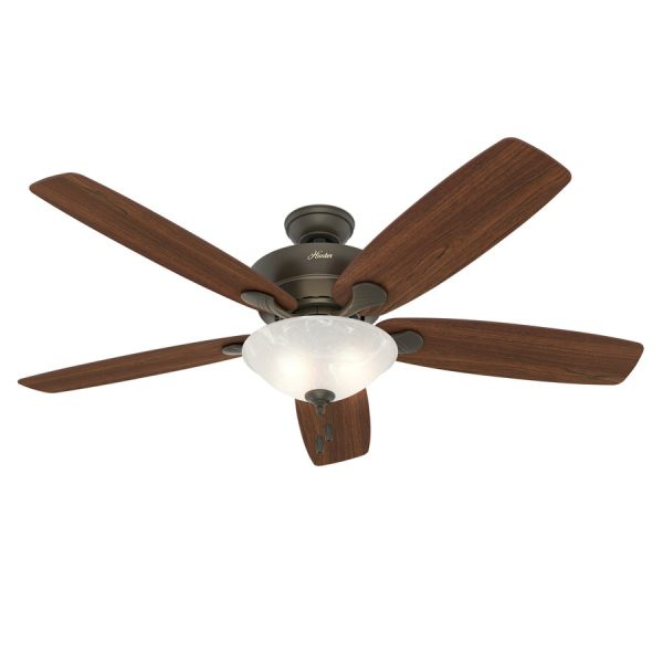 Shop Ceiling Fans at Lowes com Hunter Regalia 60 in New Bronze Indoor Ceiling Fan with Light Kit