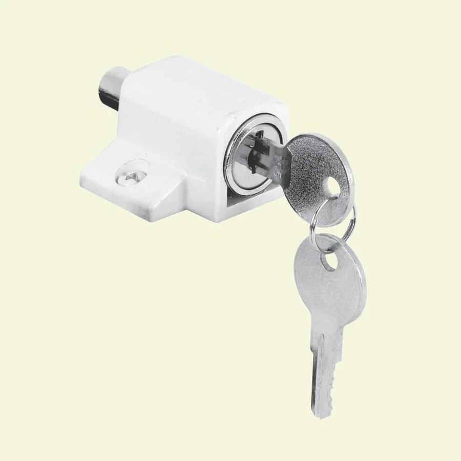 Shop Gatehouse Sliding Patio Door Cylinder Lock At Lowes Com