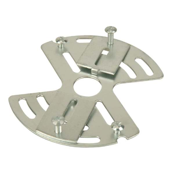 Shop Portfolio Silver Metal Ceiling Light Mount at Lowes com Portfolio Silver Metal Ceiling Light Mount