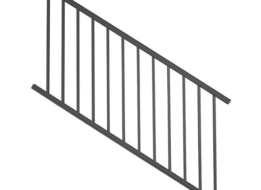 Deckorators Classic Aluminum Satin Black Aluminum Deck Stair Rail | Outside Stair Railing Lowes | Wood | Composite Decking | Outdoor Living | Handrail Kit | Stair Parts