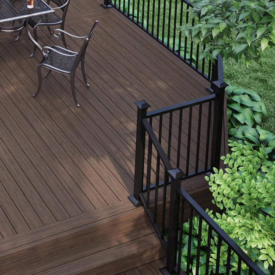 Deckorators 6 Ft X 2 75 In X 36 In Matte Black Aluminum Deck Stair | Lowes Metal Stair Railing | Lowes Com | Aluminum Railing | Composite Deck Stair | Handrail Kit | Wood