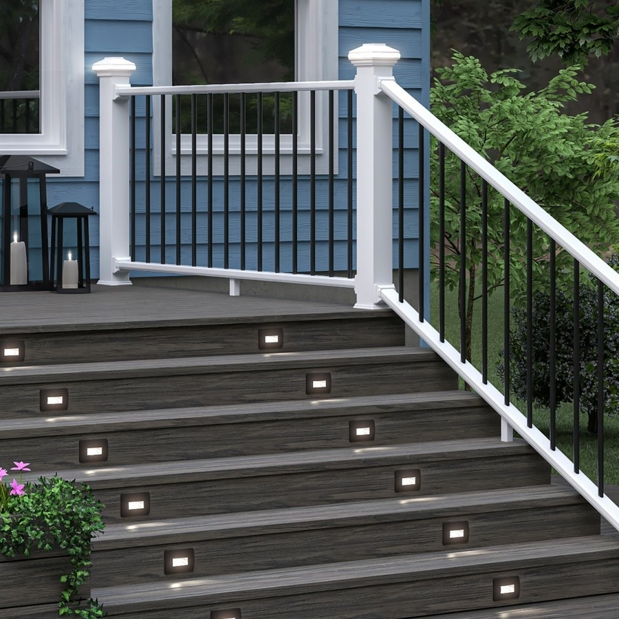 Deckorators Grab And Go White Composite Deck Stair Rail Kit With | Stair Railing And Balusters | Brushed Nickel | Free Standing | Inexpensive | Deck | Wood