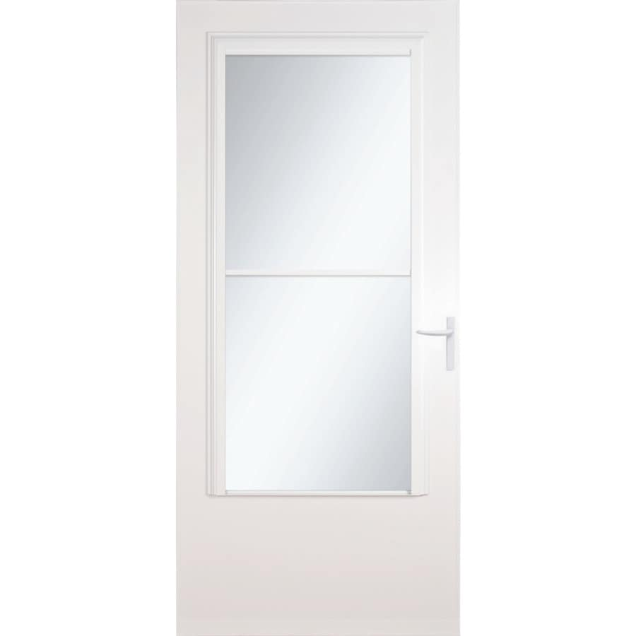 Larson Concord White Mid View Wood Core Storm Door Common