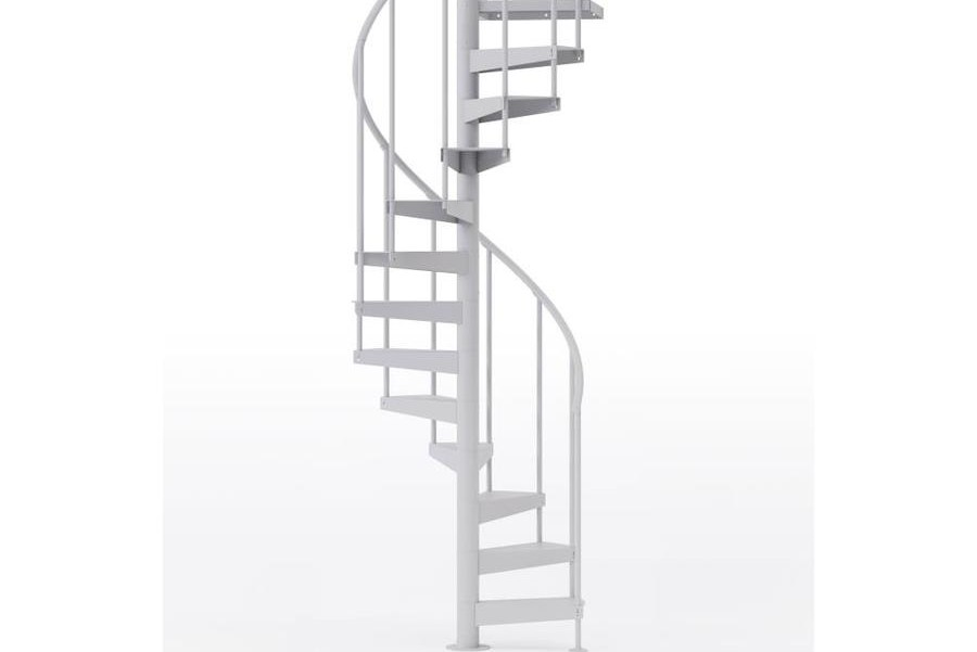 Mylen Stairs Condor White 42 In Diameter 9 Treads With 1 36 In | 36 Inch Spiral Staircase | Stair Case | Steel | Steps | Tread Depth | Handrail