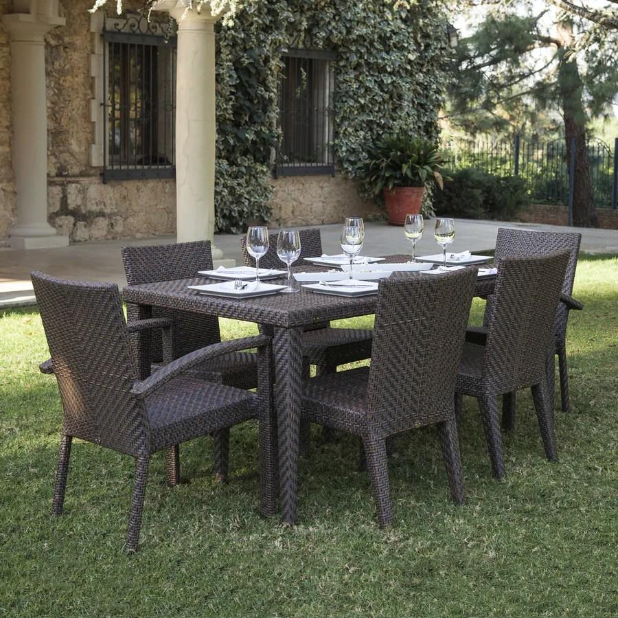 Wicker Patio Dining Set