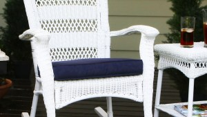 Shop Tortuga Outdoor Portside Coastal White Wicker Rocking