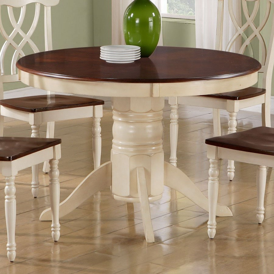 White Round Dining Table