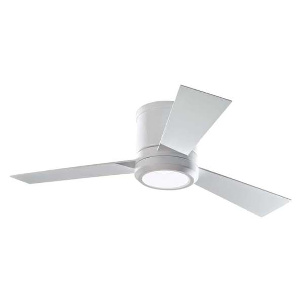Shop Monte Carlo Fan Company Clarity 42 in Rubberized White Flush     Monte Carlo Fan Company Clarity 42 in Rubberized White Flush Mount Indoor Ceiling  Fan with