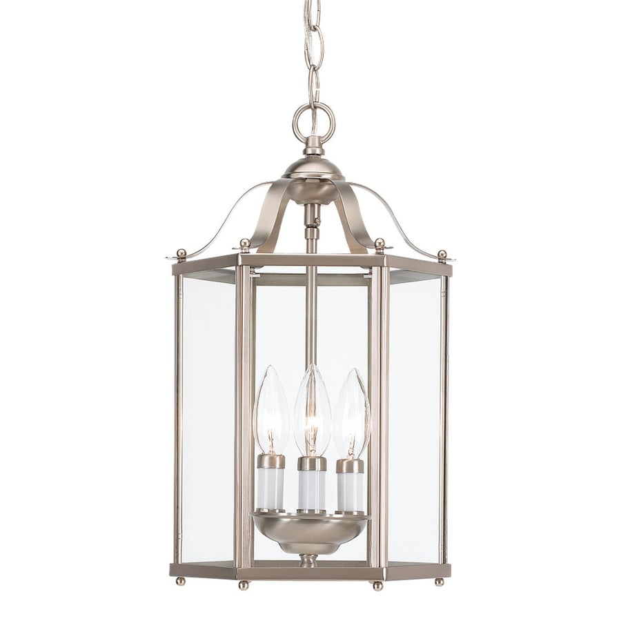 Brushed Nickel Lantern Pendant Light