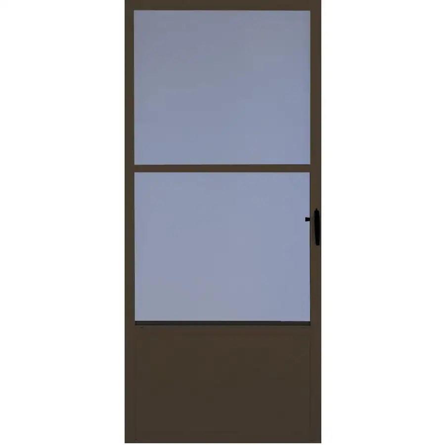 Comfort Bilt Fremont Brown Mid View Aluminum Storm Door