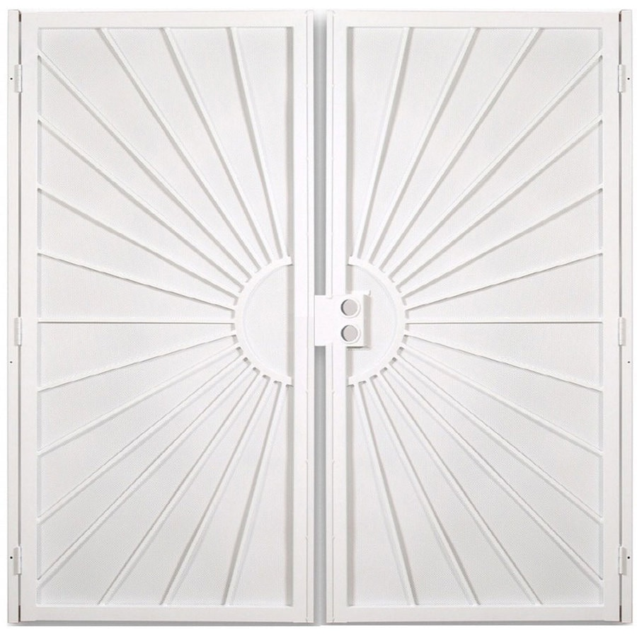 Gatehouse Sunset White Steel Surface Mount Double Security