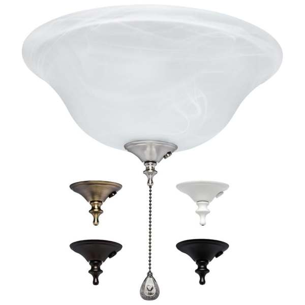 Shop Harbor Breeze 3 Light Alabaster Incandescent Ceiling Fan Light     Harbor Breeze 3 Light Alabaster Incandescent Ceiling Fan Light Kit with  Alabaster Glass Shade
