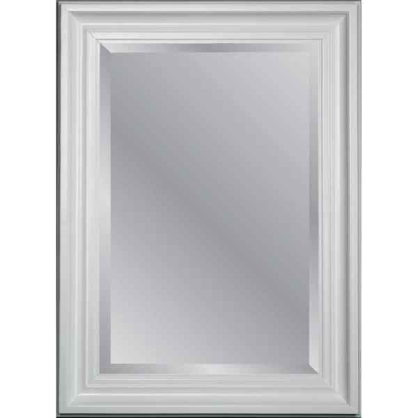 Shop Mirrors at Lowes com allen   roth White Beveled Wall Mirror