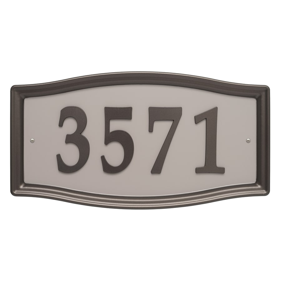 Shop Signs  Letters   Numbers at Lowes com Whitehall 8 25 in Aged Bronze House Number Home Address System