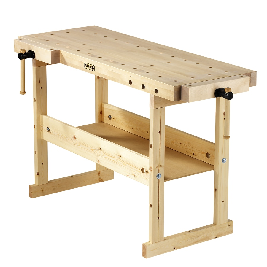 Shop Sjobergs 24 75 In W X 33 875 In H Wood Work Bench At