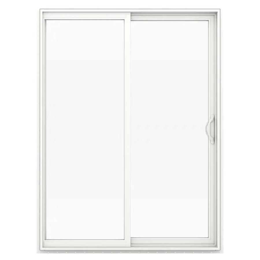 Shop Jeld Wen 59 5 In 1 Lite Glass White Vinyl Sliding