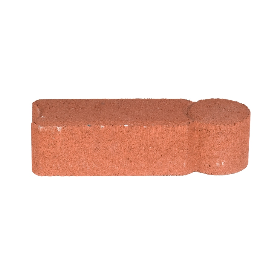 Bullet Red Straight Edging Stone Common 12 In X 4 In