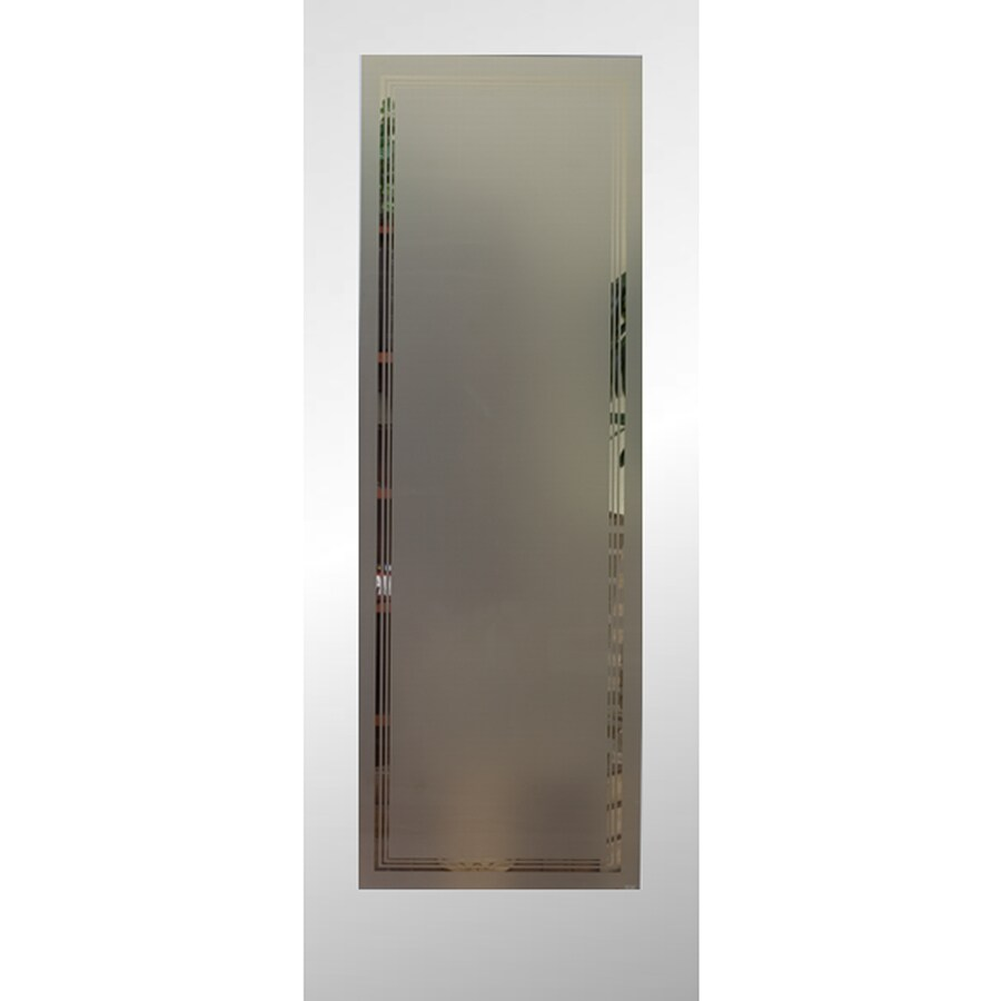Reliabilt Primed White 1 Panel Solid Core Frosted Glass