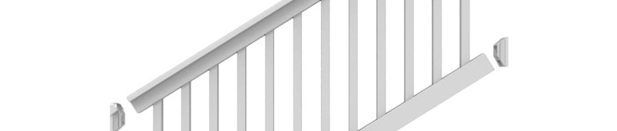Stair Rail Kit Deck Railing At Lowes Com | Outdoor Stair Railing Lowes | Winchester | Concrete | Wrought Iron Railings | Stair Treads | Matte Black