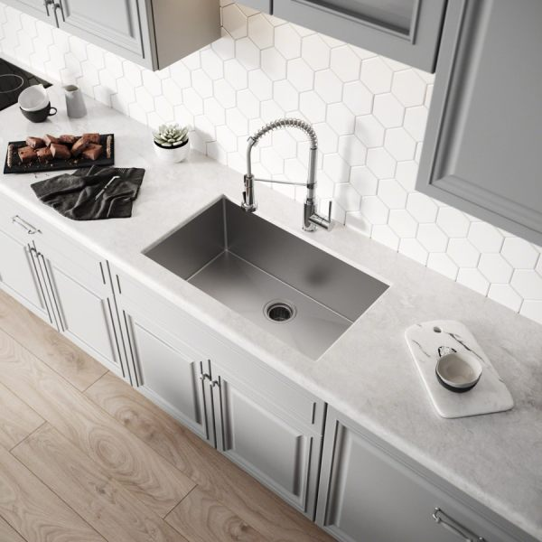Shop Kitchen Sinks at Lowes com Kraus Handmade 30 in x 18 in Stainless steel Single Basin Stainless Steel