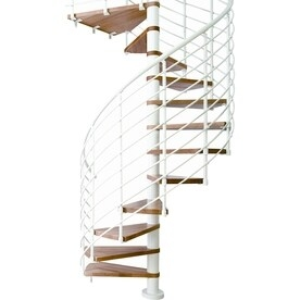 Upc 816793011211 Dolle 5 Ft 3 In Oslo White Spiral Staircase Kit   5 Foot Spiral Staircase   Metal   Hayden Gray   Reroute Galvanized   Steel   Handrail