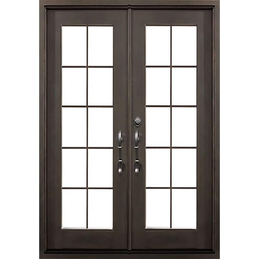 Florida Iron Doors French Insulating Core Full Lite Right