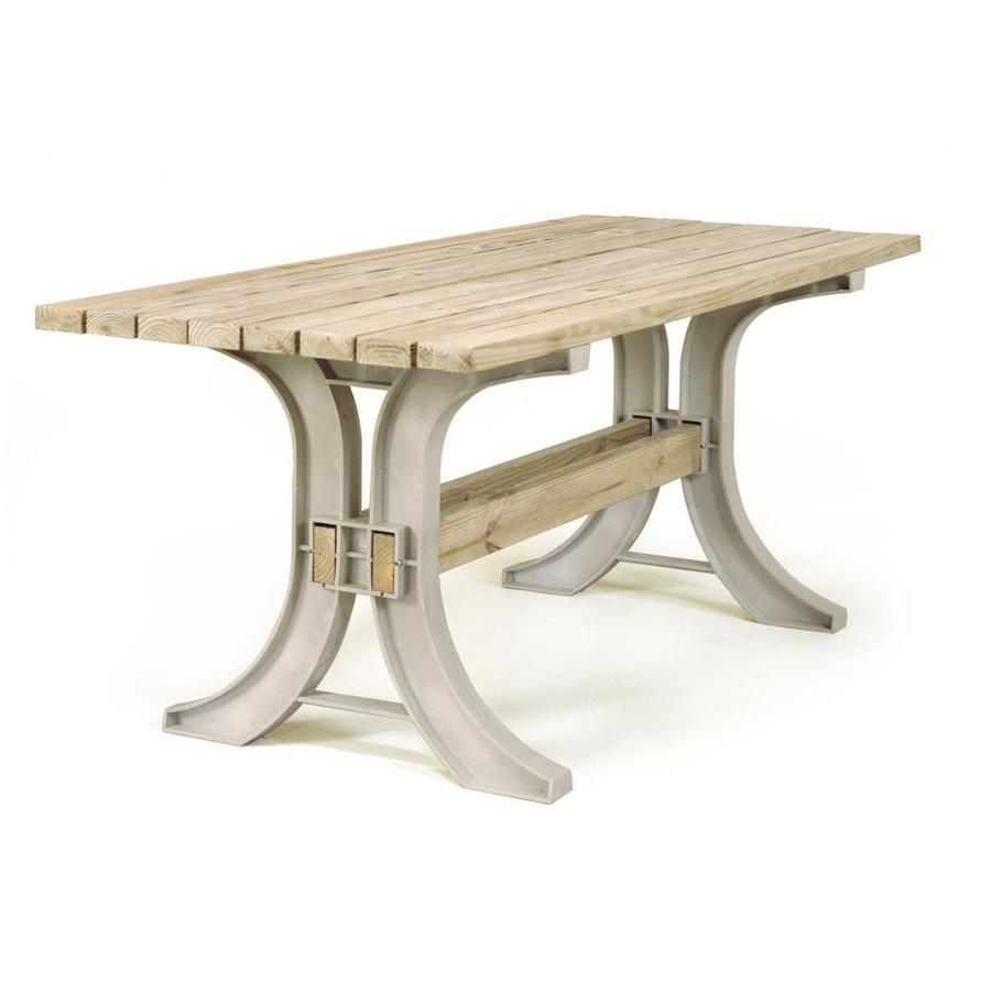 2x4basics Sand Polyresin Patio Table Brackets At Lowes Com