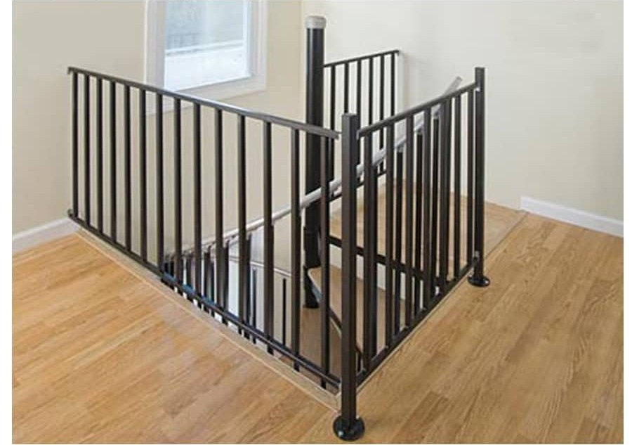 Stair Railing Kits At Lowes Com | Black Metal Railing For Stairs | Traditional | Low Cost | Cast Iron | Horizontal | Black Wire