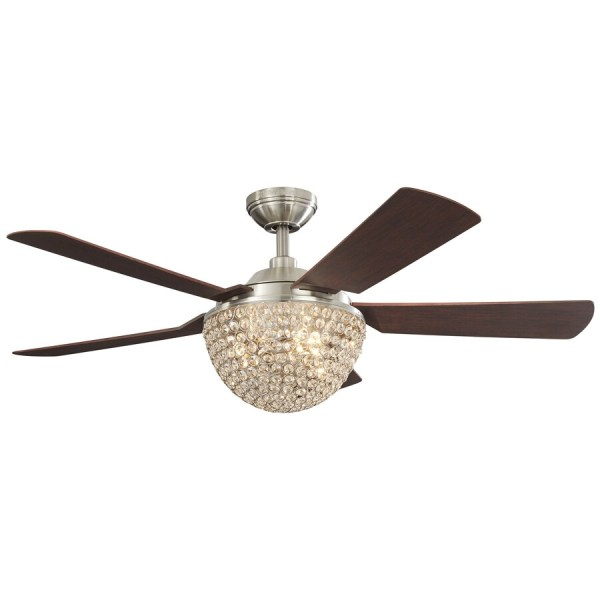 Shop Harbor Breeze Parklake 52 in Brushed nickel Indoor Downrod     Harbor Breeze Parklake 52 in Brushed nickel Indoor Downrod Mount Ceiling Fan  with Light Kit