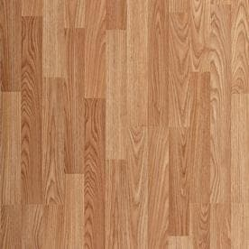 Shop Laminate Flooring at Lowes com Project Source Natural Oak 8 05 in W x 3 96 ft L Smooth Wood Plank