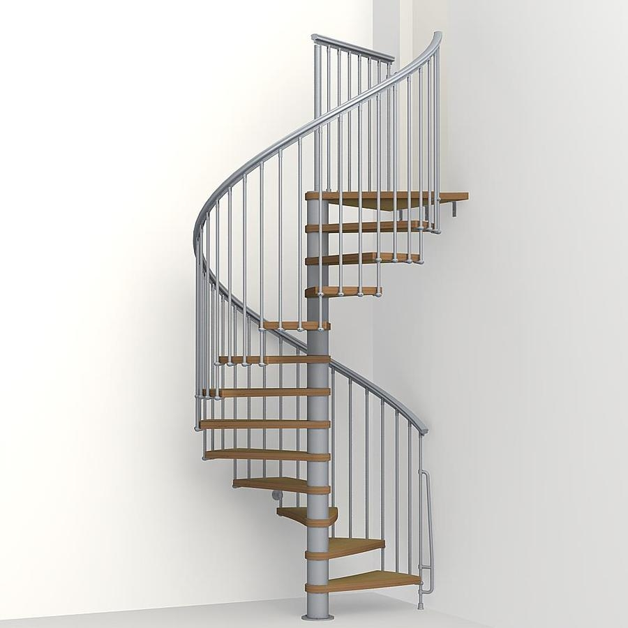 Arke Nice1 63 In X 10 Ft Gray Spiral Staircase Kit At | Spiral Staircase 10 Feet