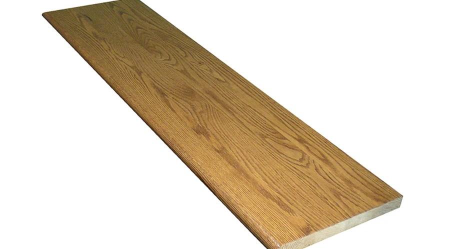 Stairtek 11 5 In X 42 In Marsh Prefinished Red Oak Stair Tread In | Red Oak Stair Treads | Non Slip | Bullnose Manufacturing | Modern | Dark Stain | Wood