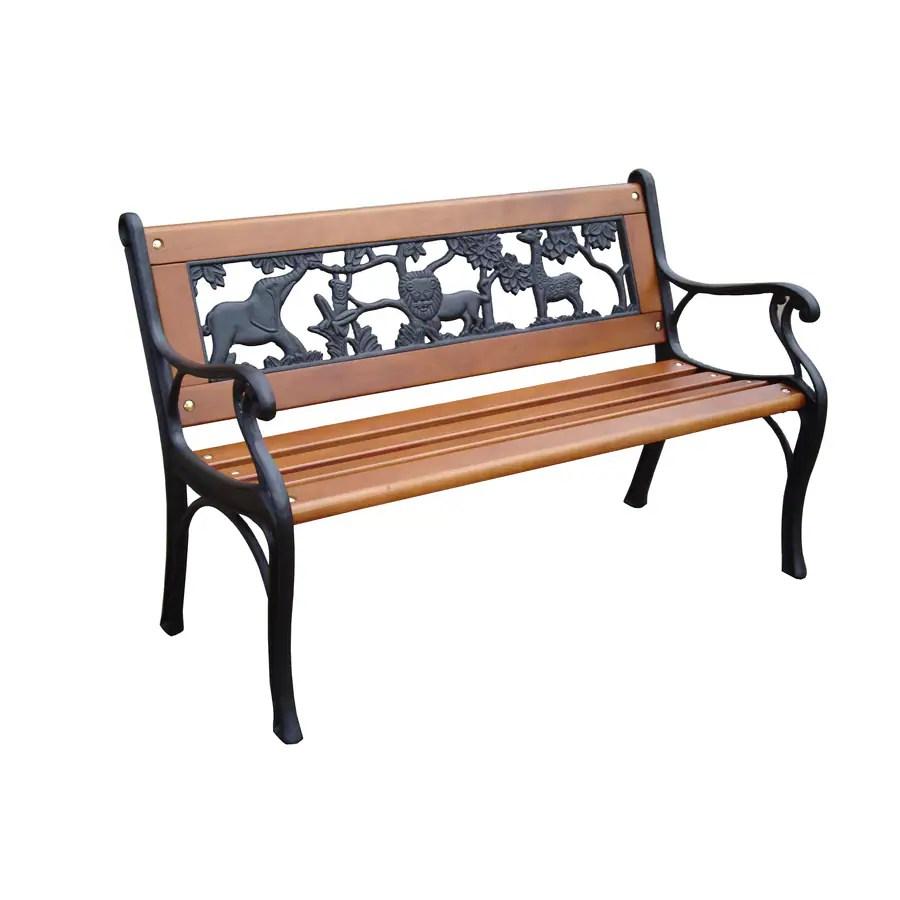 Shop Garden Treasures 16 26 In W X 32 4 In L Patio Bench