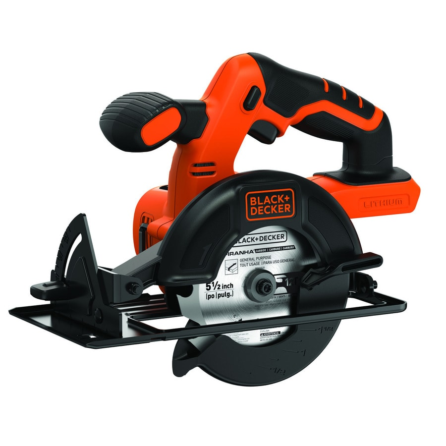 BLACK+DECKER 20-volt 5-1/2-in Cordless Circular Saw with ...