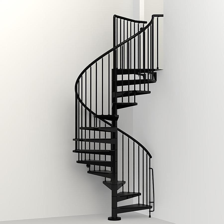 Staircase Kits At Lowes Com | Wooden Spiral Staircase For Sale | Solid Wood | 36 Inch Diameter | Unique | Curved | Closed Riser