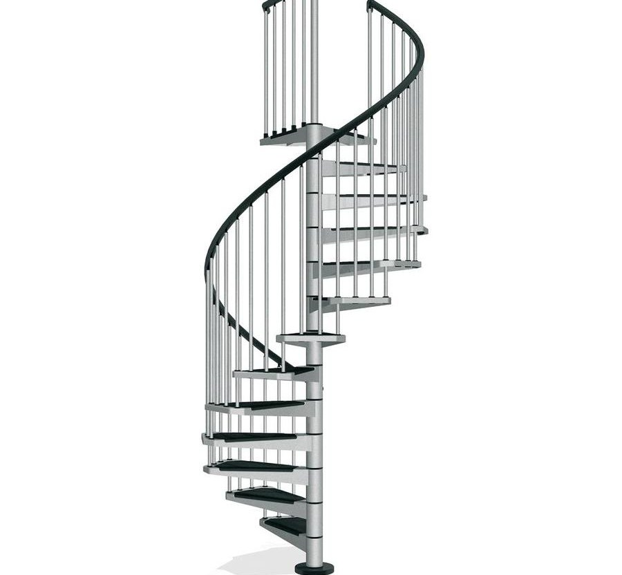 Shop Arke Civik 63 In X 10 Ft Gray Spiral Staircase Kit At | Spiral Staircase 10 Feet