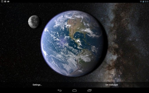 Earth and moon in gyro 3D live wallpaper for Android  Earth and moon     Earth and moon in gyro 3D