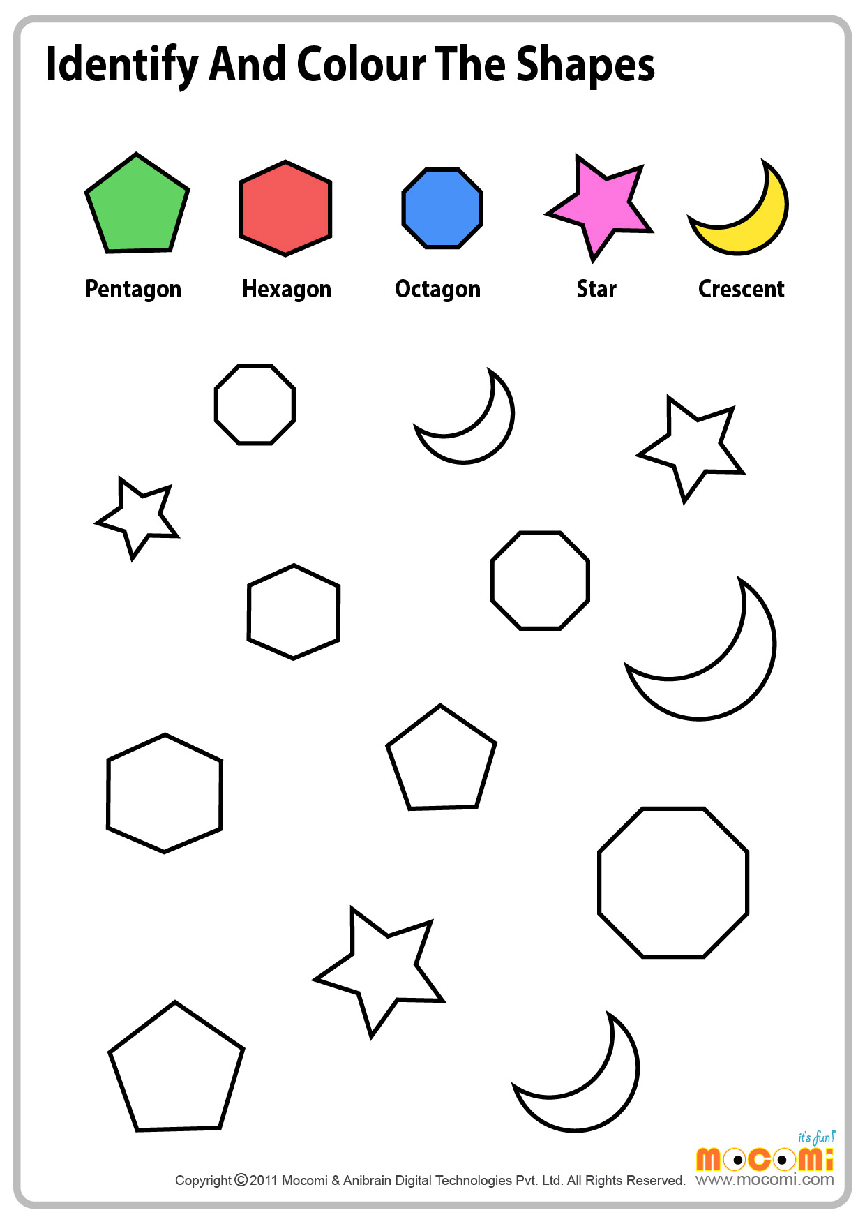 Learning Colors Worksheets Toddlers