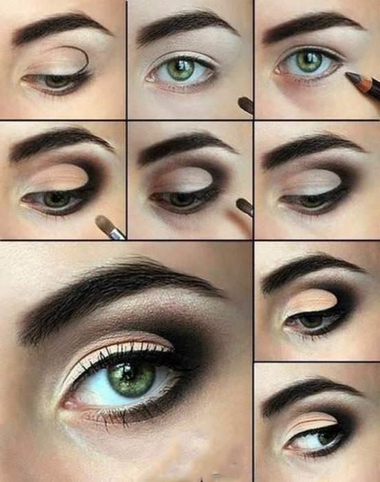 Instructions de maquillage des yeux
