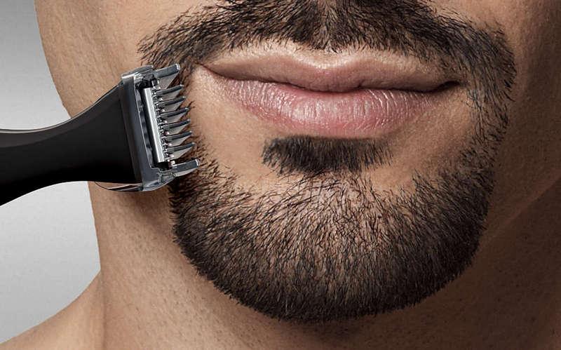 Bigode de corte de cabelo.