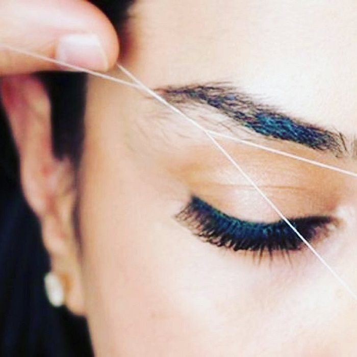 Technique removal of lines of hairs thread - Treding