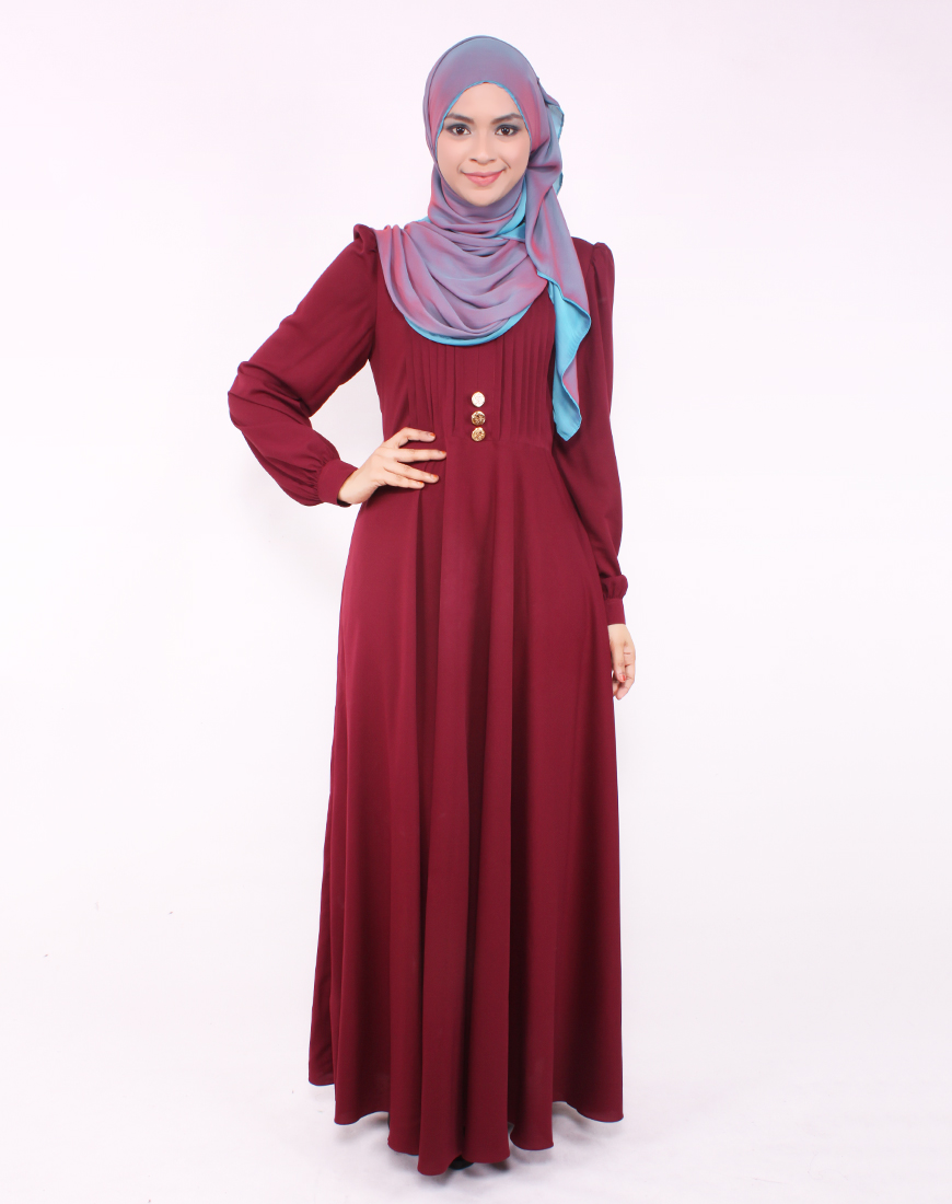 Model Long Dress Lengan Panjang Berbahan Lembut Anggun Modelhijab