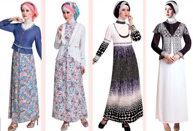 30 Contoh Model Gamis Remaja Masa Kini Fashion Modern Dan Terbaru