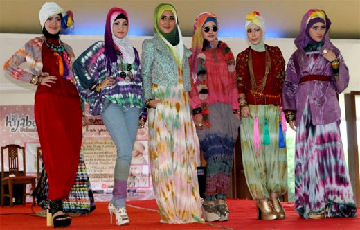 Model Baju Gamis Jumputan Detil Gambar Online
